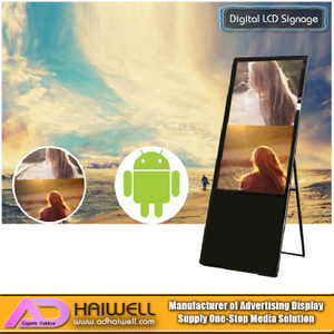 Multi-Poster LCD Ultra Portable Advertising Signage Digital