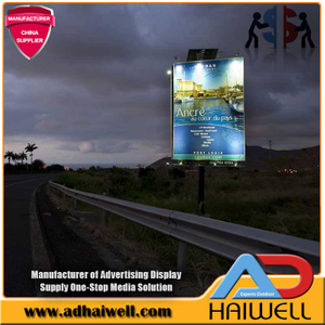 Solar Powered Strutture LED Acciaio Digital Advertising Billboard